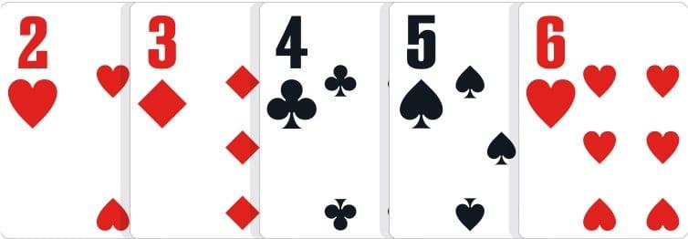 poker hand ranks-straight