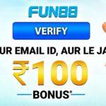 How to claim Fun88 promotions: ₹100 Free Bonus & Top 3 Promo